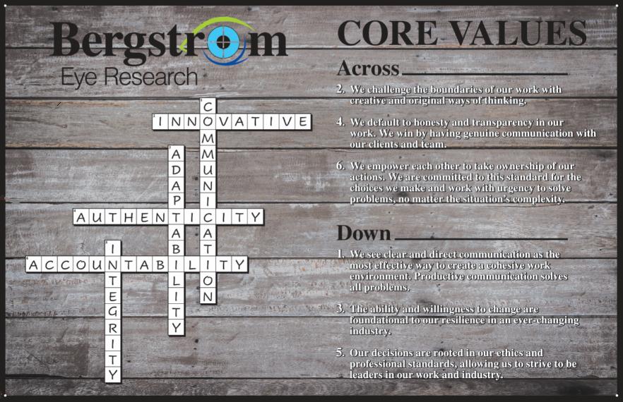 Core Values Crossword